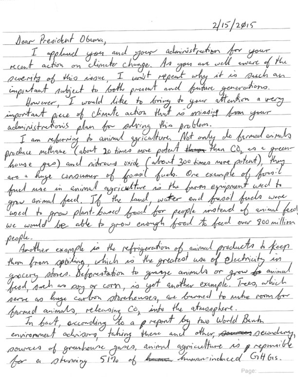 Letter to president obama kamal s prasad since ive heard that politicians like handwritten letters i wrote it by hand below is a scanned excerpt of the letter the full handwritten letter can be altavistaventures Images