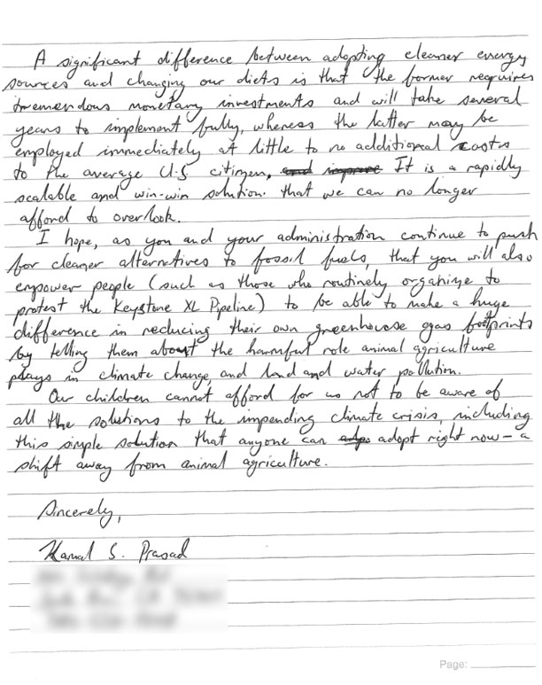 Barack obama kamal s prasad my address and phone number have been blurred out on page 3 the text version of the letter and president obamas response is located after the break spiritdancerdesigns Image collections